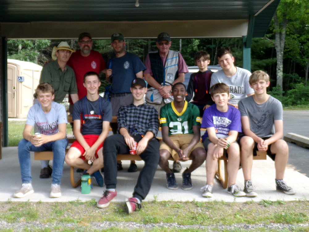 Chuck from NWWC Trap hosted Milwaukee area Boy Scout Troop 81