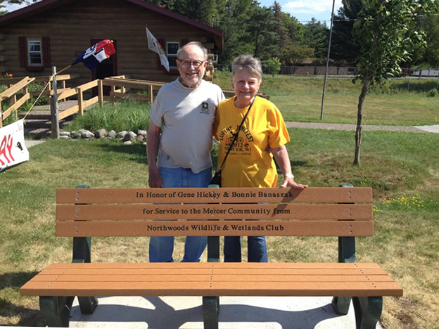 Bench Donated for long time members Bonnie & Gene