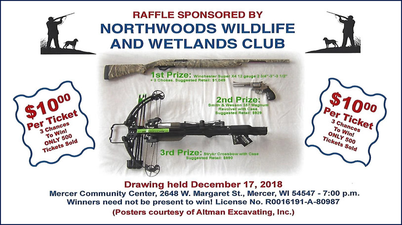 Contact club members or Jeff & Joann at 715-476-0004 for tickets